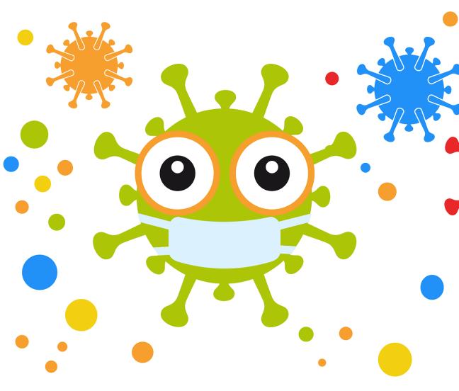 Coronavirus mit Maske